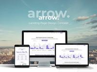 Arrow. Landing Page Design Concept
