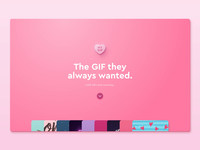 MyGifValentine savvy social gif candy pink valentines valentinesday app illustration typography interface button design branding logo ui layout ux