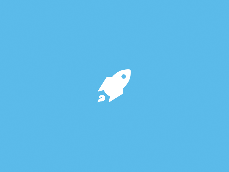Mark Exploration branding logo identity teal rocket jumpshare elastik upload flame icon logomark