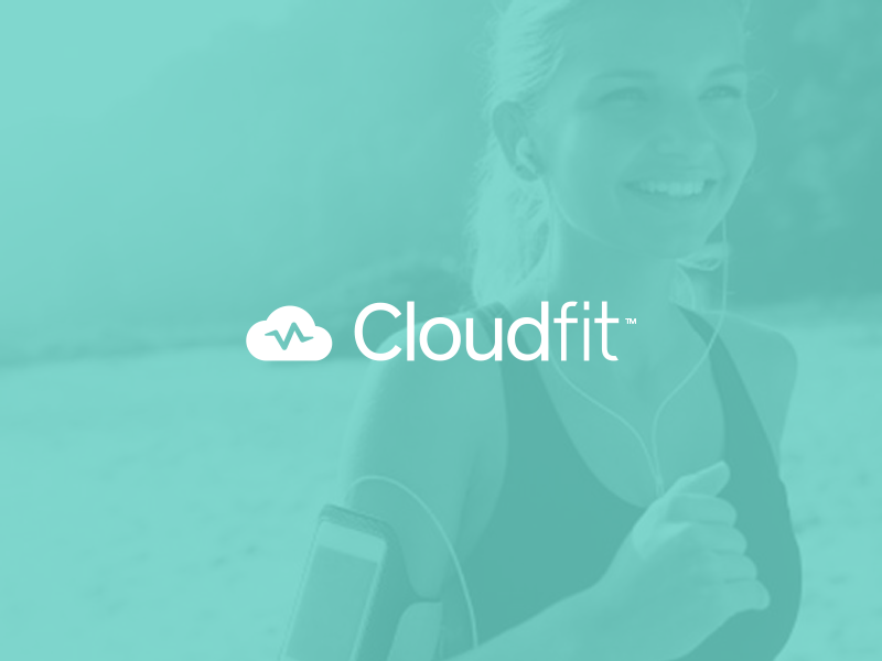 Cloudfit Brand Concept logo brand identity fitness mark cloud fit running gym outdoors data app