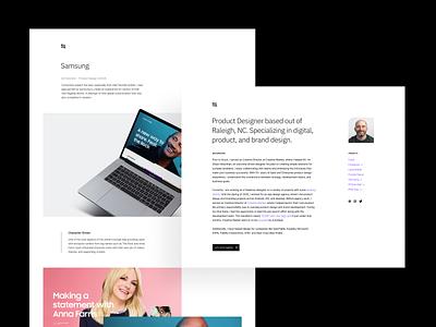 Portfolio product design minimal webflow web design personal web portfolio design branding identity logo layout ux ui