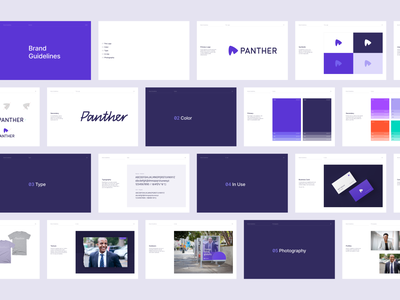 Brand Guidelines panther business layout minimal design brand identity typography vector identity logo branding