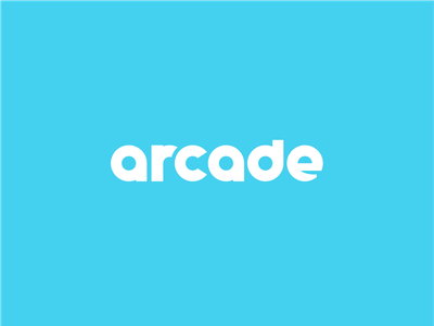Arcade bold quirky fun brand design branding custom typography geometric circular chunky identity logo wordmark design