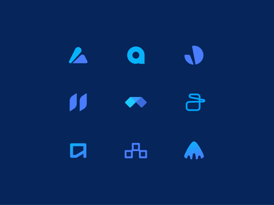 Concepts arcade abstract app brand minimal symbol brand development vector icon design branding identity logo
