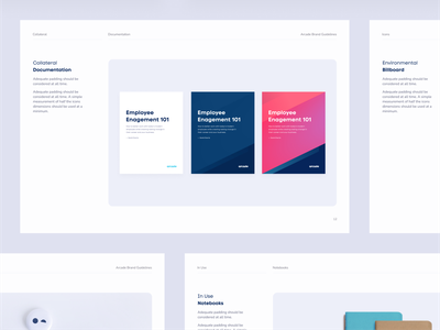 Collateral layout orange pink blue brand guidelines guidelines logo gradient logomark identity brand whitepaper type print