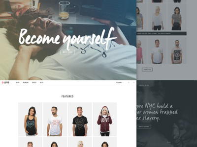 LUVD Redesign model lifestyle cause charity shop store ecommerce clothing layout interface ui ux
