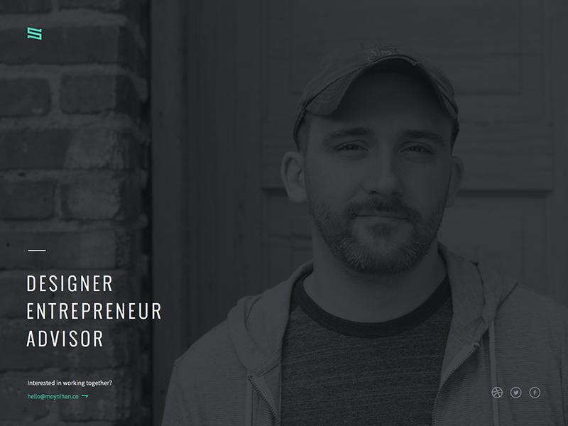 Personal Site boston mugshot full-screen single design site personal
