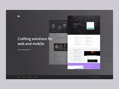 Personal 02 waffle minimal work site personal brand ui ux portfolio website