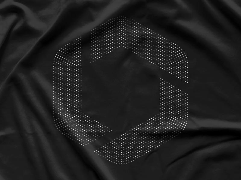 Company Shirt hexagon anxiety math dots logo apparel shirt branding