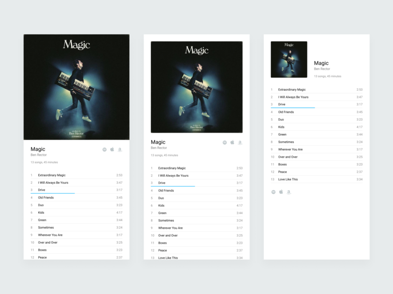 Droptune Player ux ui player music layout interface identity icons design blue app album