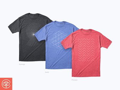 Designer Shirts design cottonbureau red blue black illustration line minimal abstract shirts app design apparel