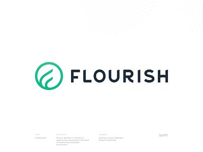 Flourish Branding agency savvy f icon branding agency typogaphy photography texture lines bold hand drawn type branding logo identity