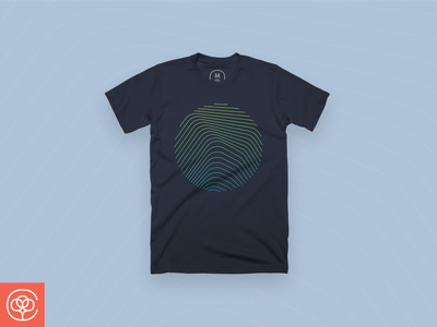 Identify apparel navy fingerprint identify illustration shirt cottonbureau design line minimal abstract