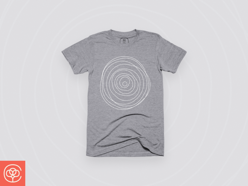 Grow life cottonbureau design shirtdesign line abstract minimal shirt grey grow lines illustration apparel