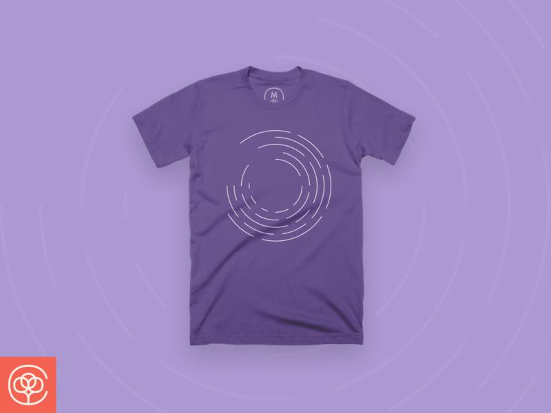 Move design cottonbureau illustration shirt momentum purple lines app design line move abstract apparel