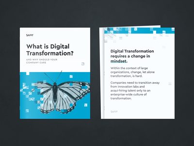 Digital Transformation Layout type transformation linkedin print savvy photoshop photo pdf manipulation illustration graphic design layout editorial document digital butterfly