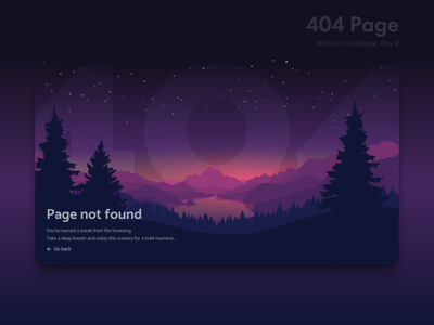 404 Not Found | Daily UI Challenge, Day 8 daily008 not found 404 page 008 uidesign ui oceanheart dailyuichallenge dailyui dailychallenge challenge design
