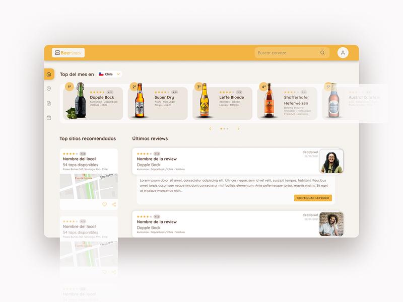 BeerStack LandingPage landingpage inspiration graphicdesign figma ux design uidesign uiux ui appdesign