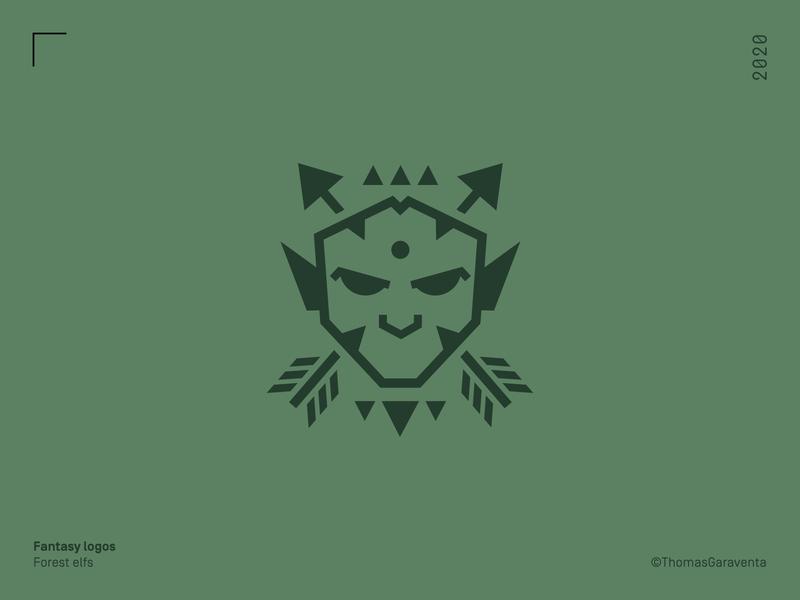 Fantasy Logos  - The forest elfs tribe flat elf fantasy design illustration mark symbol icon logo