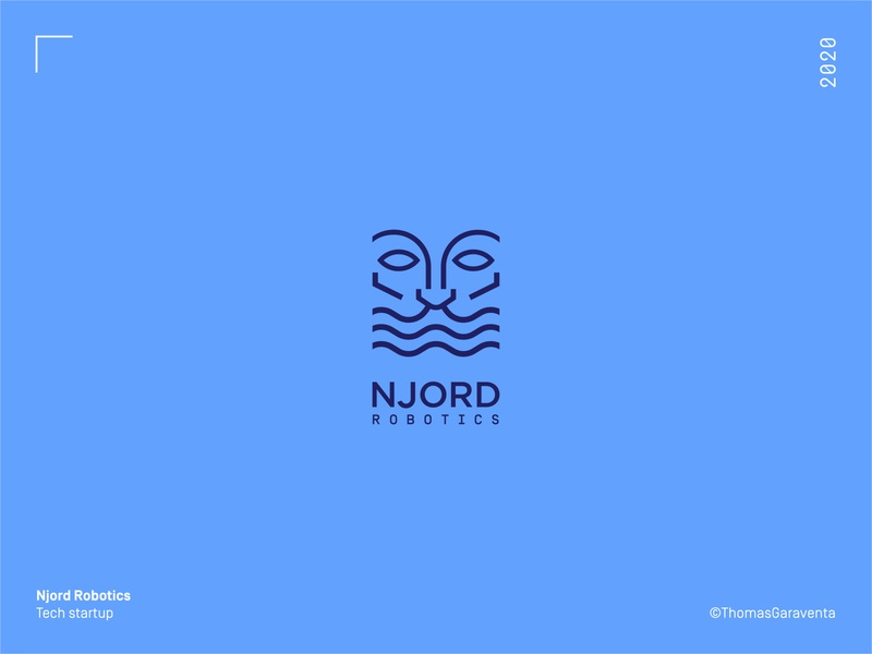 Njord Robotics - Logodesign minimal flat icon logo design symbol design startup tech logo