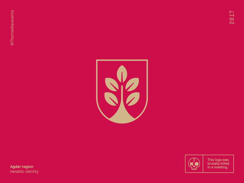 Agder heraldic shield minimal logo design shield logo flat branding icon vector shield graphic design graphic mark symbol logo heraldry