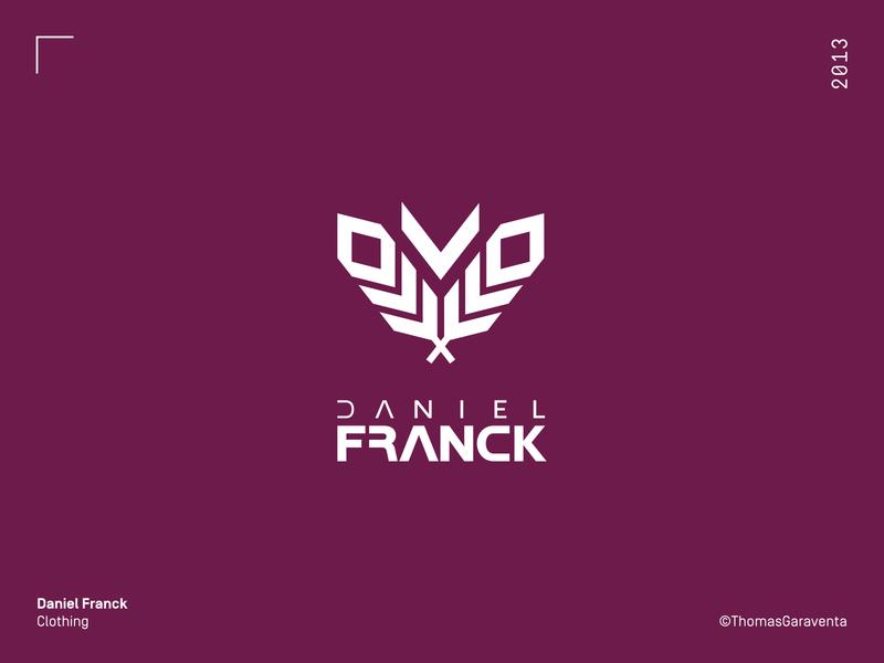 Daniel Franck logo design wild symbol flat icon logo design graphic design vector mark logo branding