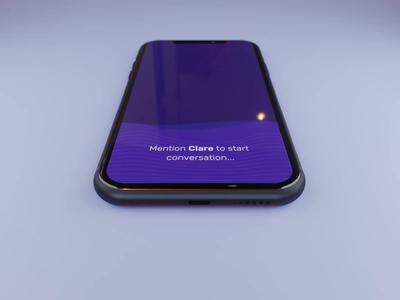 Voice Interaction Interface voice assistant design romance aftereffects iphonex blender3d ui interaction animation 3d animation voice interaction figma animation