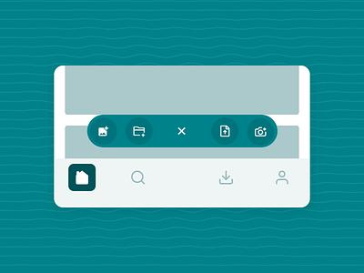 Floating Button File Upload upload navigation bar floating action button floating button fab file upload file ux aftereffects interaction ui figma animation