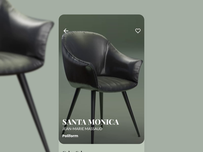 Furniture Store Product Page interior design armchair product presentation product page interaction blender interaction animation aftereffects design figma animation ui furniture store furniture app