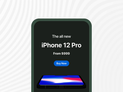 iPhone 12 Pro Landing Page landing page design features page presentation iphone blender 3d animation aftereffects interaction design animation ui figma