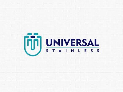 Universal Logo Design steel compnay stainless logo logodesign