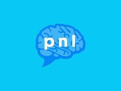 pnl™ identity brand symbol logodesign branding icon logocollection logofolio logotype logo color flat illustrator adobe brain logo communication blue brain
