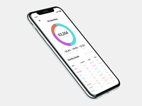iPhone X Home Monitoring Dashboard