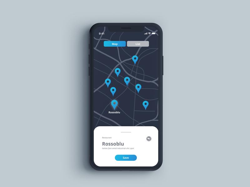 Iphone X Map map sketch minimal dailyui app ux ui illustration design