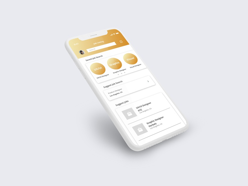 iPhone X Job Listing job listing sketch minimal app dailyui ui ux illustration design