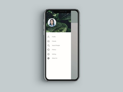 iPhone X Header Navigation