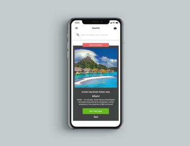 iPhone X Advertisement interface minimal sketch app illustration dailyui ux ui design