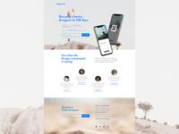 Desktop Daily UI Landing Page