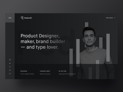 Personal Homepage 👨🏻‍💻 visual identity design landing personal brand product design promo site visual identity websites webdesign website personal maison black minimal clean stripe grid layout simple typography