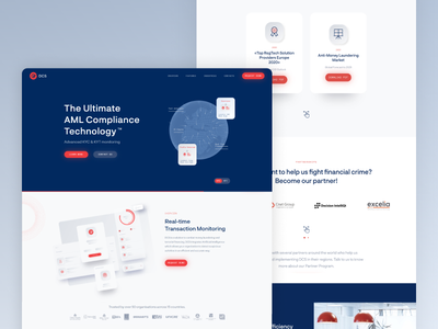 Product Landing Page - DCS AML Technology app web designer flat story profile web design news app article component widget grid clean minimal illustration typography design ux ui