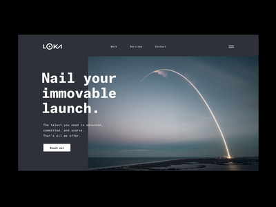 Loka.com - Services Page typography machine learning edtech fintech healthtech landing page interface black minimal grid ship talent service product launch develop consultancy startup silicon valley