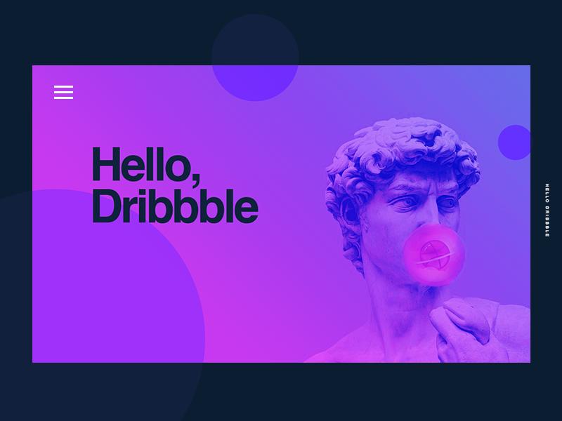 Hello Dribbble dribbbler dribbble follow design color ux ui grid girls concept