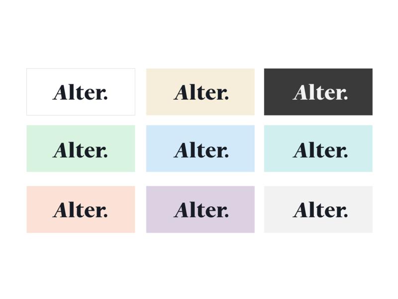 Alter Venture Partners - Colors startup venture logotype branding logo swatch swatches color