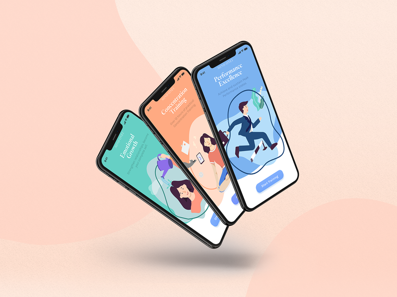Mind Only - Courses App Onboarding 💡 learning app ux ui student online courses onboarding cover design illustration start up startup wellness psychology mind essential training elearning learning educational courses course