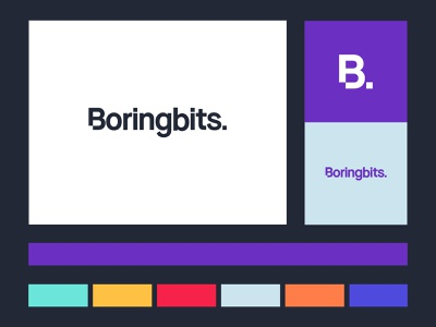Boringbits Brand Design modern minimal simple clean start up startup bits monogram symbol colorswatch colorscheme color palette typography type logodesign logotype logo brand design branding brand