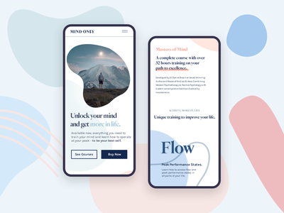 Onboarding Courses Page 🥇 walkthrough splash onboarding launch app ux ui health therapy illustration mindfulness mindful mind course premium modern ios clean design clean charts