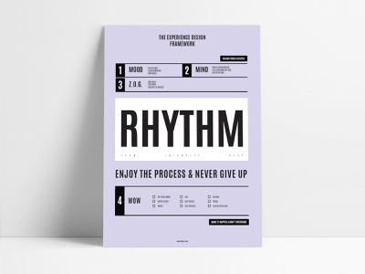 Ultimate Design Framework 📋 hacking hack minimal brand typography experience grotesk type template freebie poster art poster design framework process rhythm clean poster