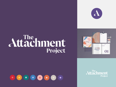 Attachment Project Branding app branding logodesign identity brand identity typography design vector mockup colors typography logo splash branding design brand mark pallet custom type custom lettering attachment typography ariata