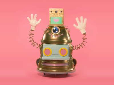 Hygloo - Real Life Robot Design! avatar kindness bot roboto animation character design happy face cyclops dalek r2d2 boombox hip hop disco funk keepin it real real robot physical product irl real life