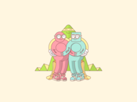 Delbar - Best Friends Forever Illustration